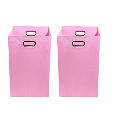 Modern Littles Organization Bundle-2 Laundry Bins, Rose Pink by Modern Littles