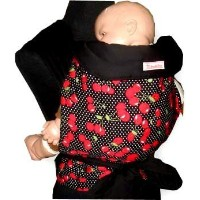 MEI TAI Baby Sling Carrier : Cherry on Black by Enjoybaby