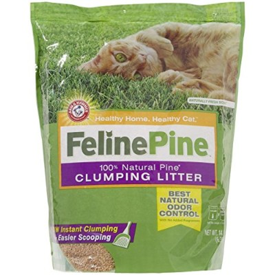 Feline Pine Natural Scoop Clumping Litter for Cat Natural Odor Control 14lbs