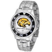 Southern Miss Competitorメンズスチールバンド腕時計