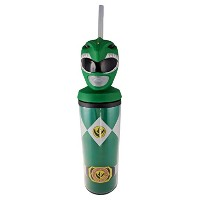 Power Rangers公式ライセンス、カーニバルCup with Strawから新しいムービープラスチックLike Cup with Lid and Straw旅行カップ
