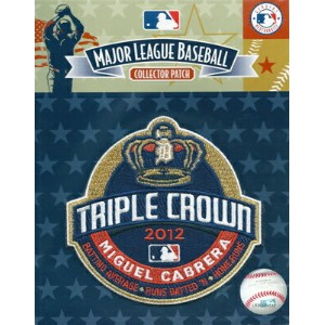 MLB 2012 ミゲル・カブレラ 三冠王記念ロゴパッチ / 2012 Miguel Cabrera Triple Crown Logo Patch