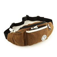 (Gumstyle) Gumstyle Men s Canvas Military Waist Belt Bag Shoulder Sling Fanny Pack Hip Wallet