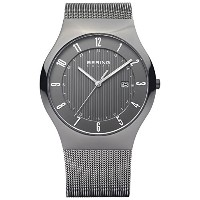 Bering Time 14640–077メンズソーラーコレクションWatch with Mesh Band and scratch resistantサファイアクリスタル。デンマークの設計。