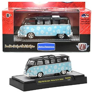"M2 MACHINES 1:64SCALE AUTO-THENTICS ""1959 VOLKSWAGEN MICROBUS DELUXE U.S.A. MODEL""(MINT BLUE)..."