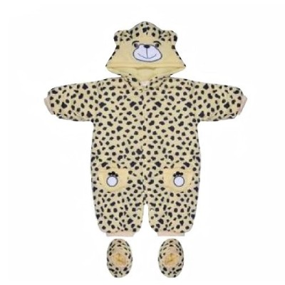 Baby Snowsuit with Navy Leopard Prints 3-6 Months by XIXI BABY