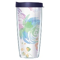水彩Flower WrapタンブラーMug with Lid 16 Oz