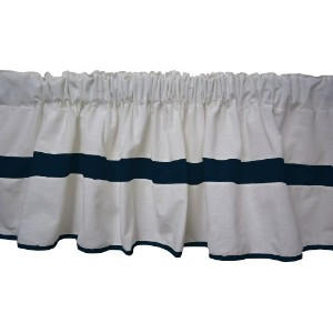 Baby Doll Bedding Modern Hotel Style Window Valance, Navy by BabyDoll Bedding