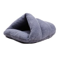 Zhhlaixing Pet Bed 犬用ベッド・クッション Soft & Durable Warm Pet Bed For Small Cats And Dogs (Gray)