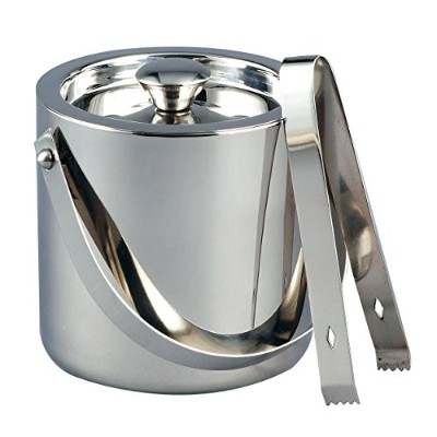 ステンレススチールQuart Ice Bucket with Tongs – Personalized Gift Item 1.5クォート シルバー 72587