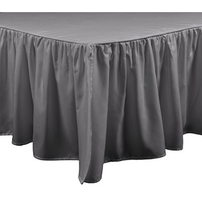 Brielle Stream Bed Skirt, Queen, Grey by Brielle