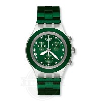 【Swatch スウォッチ メンズ 腕時計 Irony Diaphane Chrono Full Blooded Green Watch SVCK4043AG】
