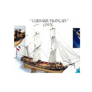 """Soclaine  ル・トノン""""Le Tonnant French Privateer 1793"""" LT1200"""