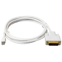 【送料無料】 Mini Displayport/Thunderbolt to DVI 変換ケーブル 1.8m