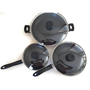 iCook 6-piece Nonstick Frypan Set with強化ガラス蓋101083