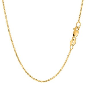 """14k Yellow Gold Forsantina Chain Necklace, 1.5mm, 18"""""""