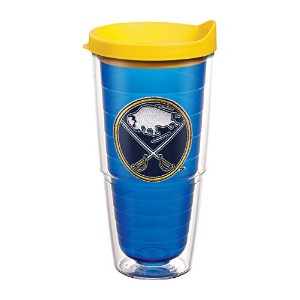"Tervis 1065087 "" NHL Buffalo Sabres "" Tumbler withイエロー蓋、エンブレム、24オンス、サファイア"
