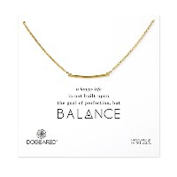Dogeared Medium Square Bar Necklace , Gold Dipped