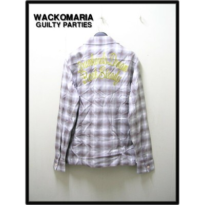 M Brown【WACKO MARIA ワコマリア RAYON OMBRE SHIRT 3 (DRUNKARD'S DREAM) レーヨンチェックシャツ】12AW-OMB-08