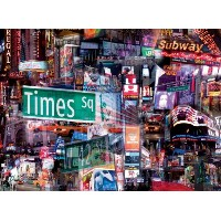 【送料無料】【[バッファローゲーム]Buffalo Games City Collages Times Square 1000pc Jigsaw Puzzle 11347 [並行輸入品]】...