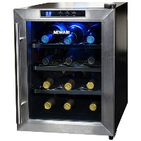 NewAir 小型ワインクーラー(冷蔵ショーケース) Wine Cooler - Stainless Steel ステンレススチール【並行輸入】