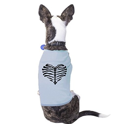 365 Printing Heart Skeleton Funny Halloween Costume Tshirt For Small Dogs Gifts
