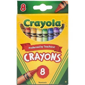 Crayola Crayons , 8Count (ケースof 48) Pack of 6 523008