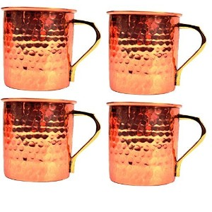Streetクラフト銅Moscow Mule Beer Mug – 100 % Pure copper-元Vodka and Ginger Beer Drinkマグカップ16オンス 16オンス...