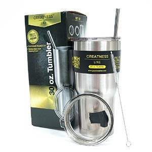 Greatness Line 30 oz. Tumbler Value Pack with 2 Lids and Extra Stainless Steel Straw - Double Wall...