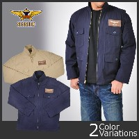 SESSLER(セスラ) TYPE AN-J2 JACKET,AVIATOR,SUMMER BUAERO U.S. NAVY (ワッペン付)A-613-WP【中田商店】