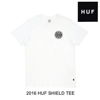 2016 HUF ハフ Tシャツ SHIELD TEE WHITE