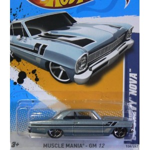 【送料無料】【2012 Hot Wheels Muscle Mania - GM '66 Chevy Nova - 6/10 #106/247】 b005pkn0vq