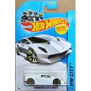 【送料無料】【Hot Wheels HW City Lamborghini Sesto Elemento White #39/250】 b00ie3z02s