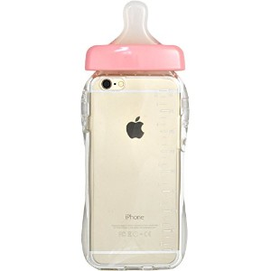 PLATA iPhone 6 iPhone6s ケース 哺乳瓶 ケース iPhone 6 6s 【 ピンク pink 】 IP6-9013PK