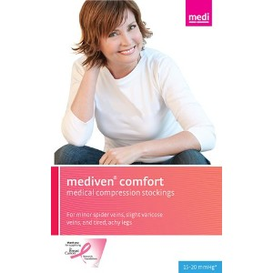 mediven comfort Compression Stockings 15-20 CALF Open Toe NATURAL II by Mediven