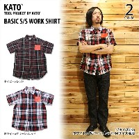 【KATO' DENIM/カトーデニム】BASIC S/S WORK SHIRT 2color