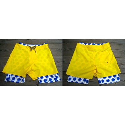 OVER THE TWELVE インナーパンツ付き SWIM WEAR [YELLOW]