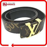 LOUIS VUITTON ルイ・ヴィトン MP016 17aw Supreme Louis Vuitton Initiales 40 MM Belt ルイヴィトン×シュプリーム モノグラム...
