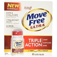 Schiff Move Free Ultra Type II Collagen Hyaluronic Acid Boron Tripe Action Tablets (60 ct) by SCHIFF