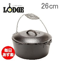 Lodge ロッジ ロジック キッチンオーブン 10-1/4インチ L8DO3 Lodge Logic Dutch Oven with Spiral Bail and Iron Cover オーブン...