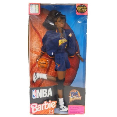 NBA ウォリアーズ バービー人形 1998 Barbie Collectibles African American レアアイテム