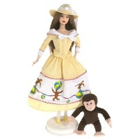 2000 Barbie バービー Collectibles - Barbie バービー and Curious George 人形 ドール