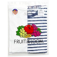 FRUIT OF THE LOOM(フルーツオブザルーム) CREW NECK PACK TEE WHT/NVY fruitoftheloom67244 サイズL 色WHT/NVY