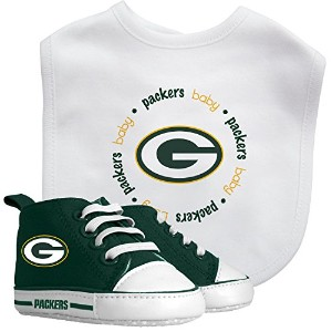 Baby Fanatic Bib with Pre-Walkers, Green Bay Packers by Baby Fanatic