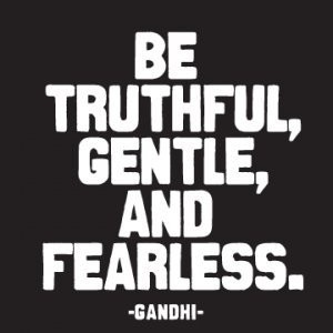 Quotable Magnet- Be Truthful, Gentle, and Fearless. Gandhi by Quotable Cards