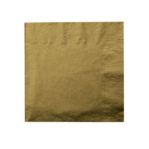 Dark Gold Beverage Napkins 24 ct. by Party!