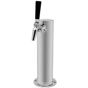 Kegco 1FT650SS-BRUSH Single Faucet Stainless Draft Beer Tower w/ Perlick 650SS Stainless Faucet by...