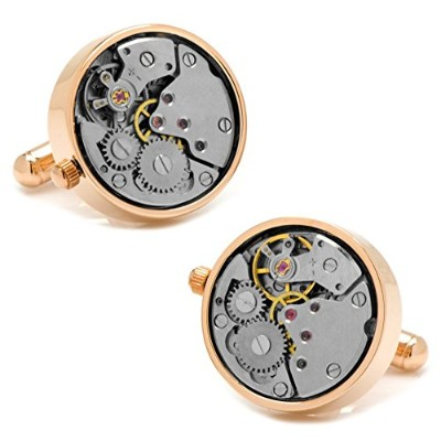 Ox and Bull Men 's Watch Movement Cufflinks