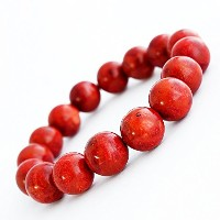 One&Only Jewellery 天然 珊瑚 サンゴ 12mm ブレスレット 桐箱入り 3月誕生石