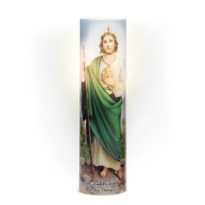 The Saints Collection St. Jude LED Prayer Candle [並行輸入品]